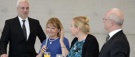 Reinhard Pass, borgmästare i Essen, Mari Louise Rönnmark kommunalråd i Umeå, samt handelsminister Ewa Björling.