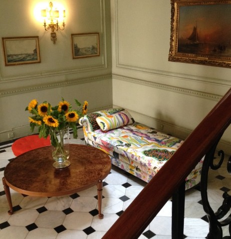 Josef Frank-möbel i ambassadörens residens