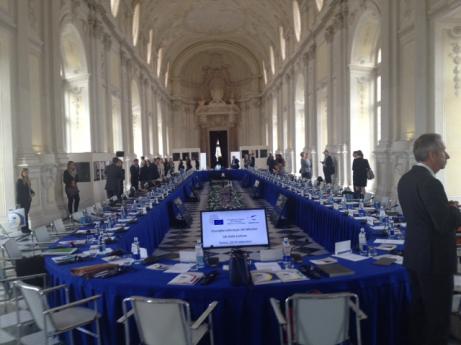 Pampig inramning till kulturministrarnas möte i Turin