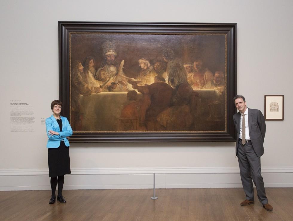 Dr Nicholas Penny och utställningen curator Dr Betsy Wieseman.  © The National Gallery, London
