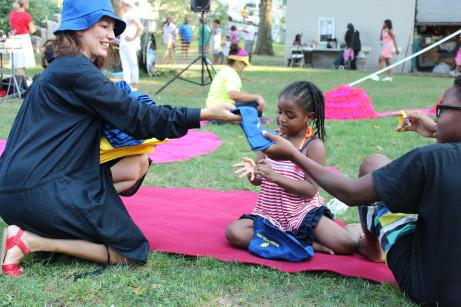 Linda Zachrison i Marcus Gavey Park, Harlem Photo: Brina Thurston