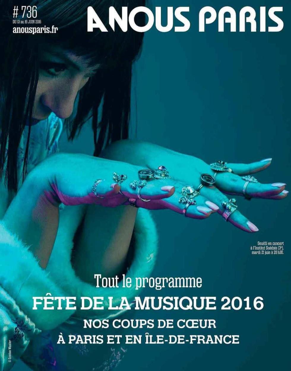 Ana Rab, alias Gnučči på omslaget i A Nous Paris