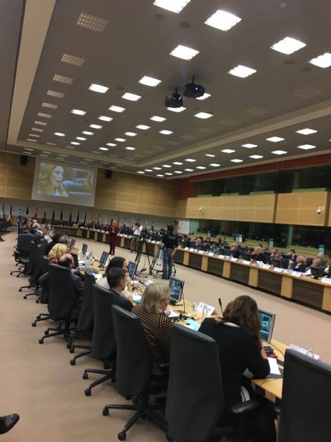 17 november 2016. Kollokvium om mediepluralism och demokrati i Bryssel. Alexandra Pascalidou