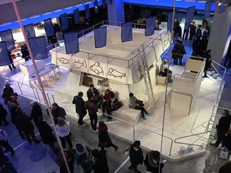 Marcus Lindéns installation på Centre Pompidou. Foto Mats Widbom