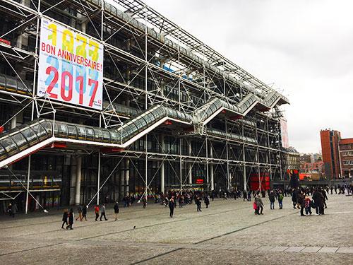 Centre Pompidou fyller 40 år. Foto: Mats Widbom
