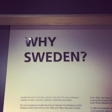 Why Sweden? Från utställning på Lilliesleaf Foto: Hedda Krausz Sjögren