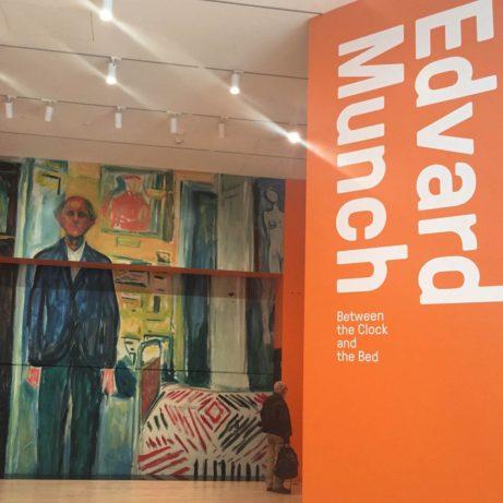 Utställningens kuratorer samtalar vid invigningen. Från vänster: Jon-Ove Steihaug Munchmuseet, Sheena Wagstaff, Metropolitan Museum of Art, Gary Garrels, SFMOMA.