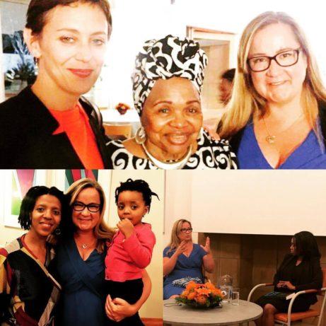 Fin kväll på ambassadör Cecilia Julins residens tillsammans med bland andra ambassadöre Lindiwe Mabuza och kvällens yngsta deltagare, dotter til Kgauhelo Dube, samt i samtal med Phumele Motene.