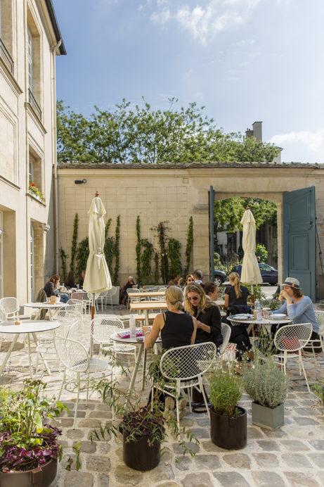 Nya Café Suédois med design av bl a TAF Arkitektkontor. Foto:Vinciane Lebrun-Verguethen