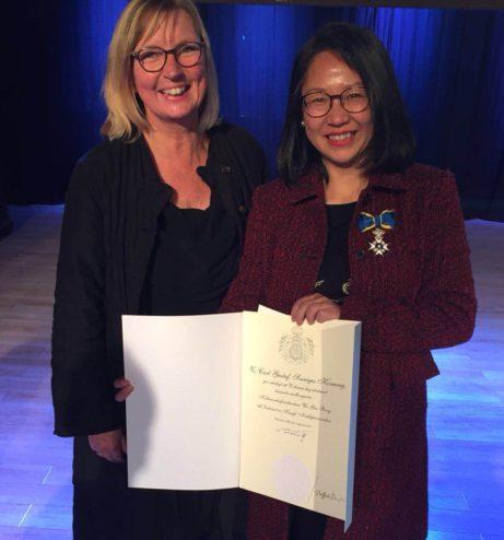 We Yeu Rong tillsammans med Anna Mellergård
