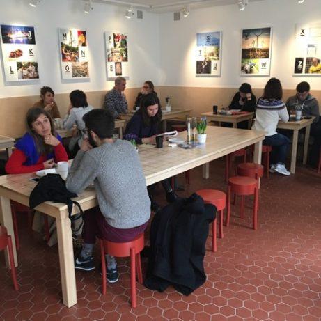 Nyrenoverat Café suédois med inredning av TAF arkitekter