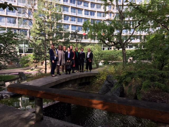 Studiebesök på UNESCO i japanska parken med Si:s personal och svenska Unescodelegationens Frida Gustafsson och Malin Nilsson Doria
