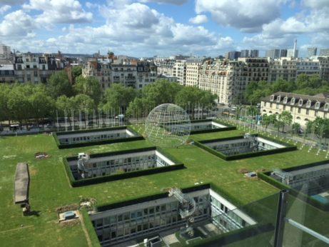 Utsikt från UNESCO huvudkontors restaurangvåning