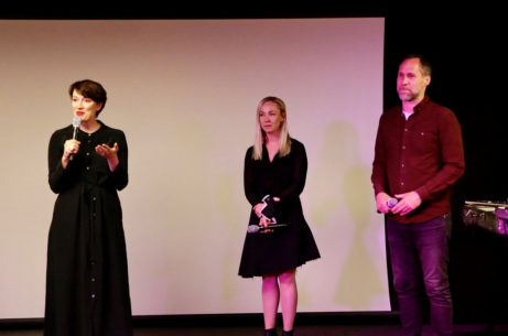 Kulturråd Linda Zachrison med Lisa Nordström och Pether Lidgren.
