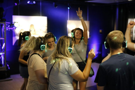 Silent disco på House of Sweden.