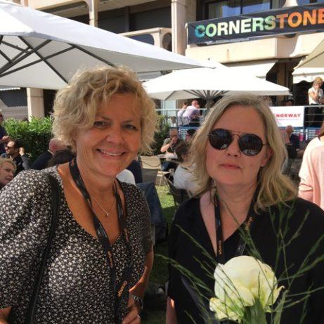 Filminstitutets chef Anna Serner, och Kajsa Hedström som ansvarat för digitaliseringen av Sjunde Inseglet på Skandinaviska Terassen