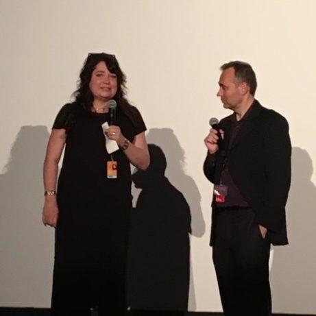 Jane Magnusson intervjuas inför världspremiären på dokumentären om Ingmar Bergman ETT ÅR, ETT LIV om 1957