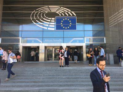 Stora entrén till Europaparlamentet. Foto: Mikael Schultz
