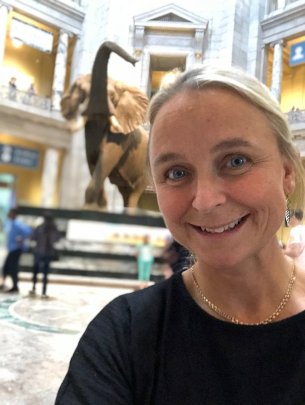 Caroline Borgudd från Naturhistoriska riksmuseet i Smithsonians Natural History Museum
