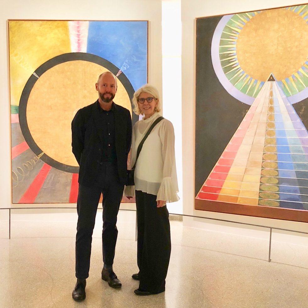 Niklas Arnegren, Kulturfrämjare och Annika Rembe, ny generalkonsul i New York. Foto NIklas Arnegren.