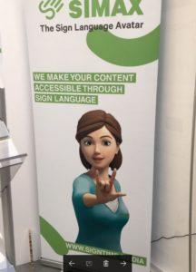 Här den avatar som översätter talad tyska till teckenspråk som jag nämner i texten.