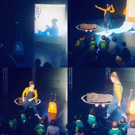 Emma Ribbing spelar för barn i Johannesburg