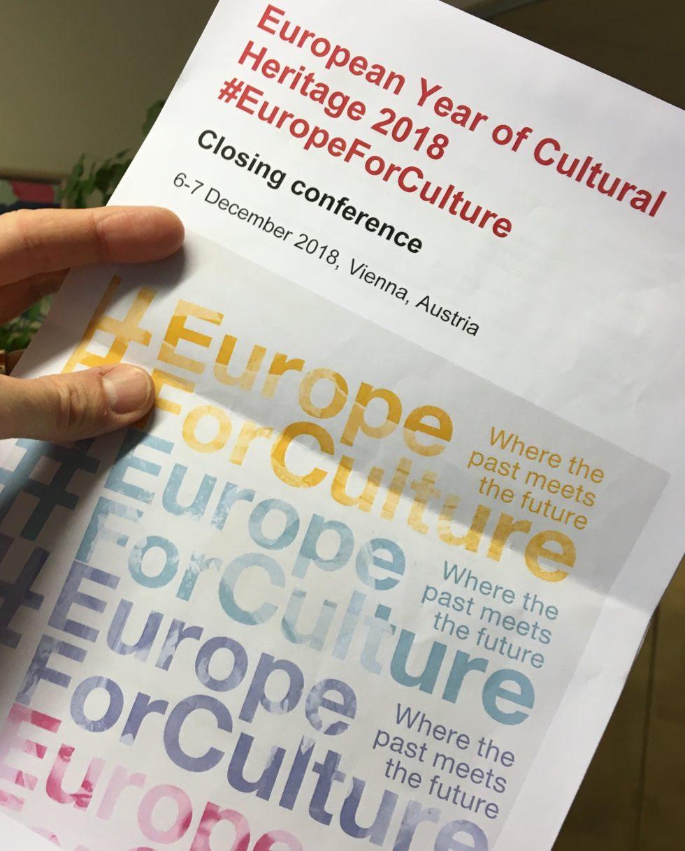Europeiska året för kulturarv 2018 gör sin slutkonferens i Wien. Foto: Mikael Schultz