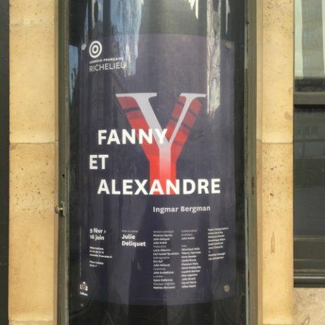 Affisch vid Comédie Francaise om kommande uppsättning