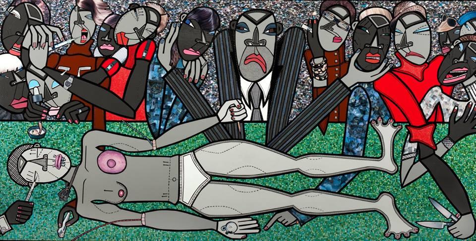 """Drop Dead Gorgeous"" ""Drop Dead Gorgeous""   av Anna U Davis, från utställningen Witnesses på House of Sweden"