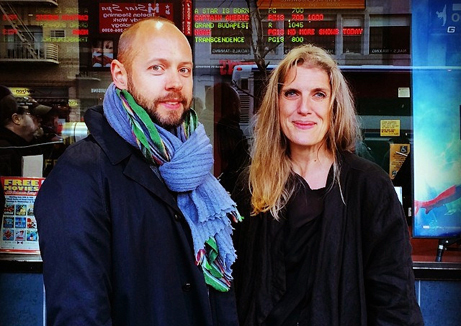 Niklas Arnegren och Sofia Norlin på Tribeca Film Festival (foto: Lisa Laskaridis Sarmiento)