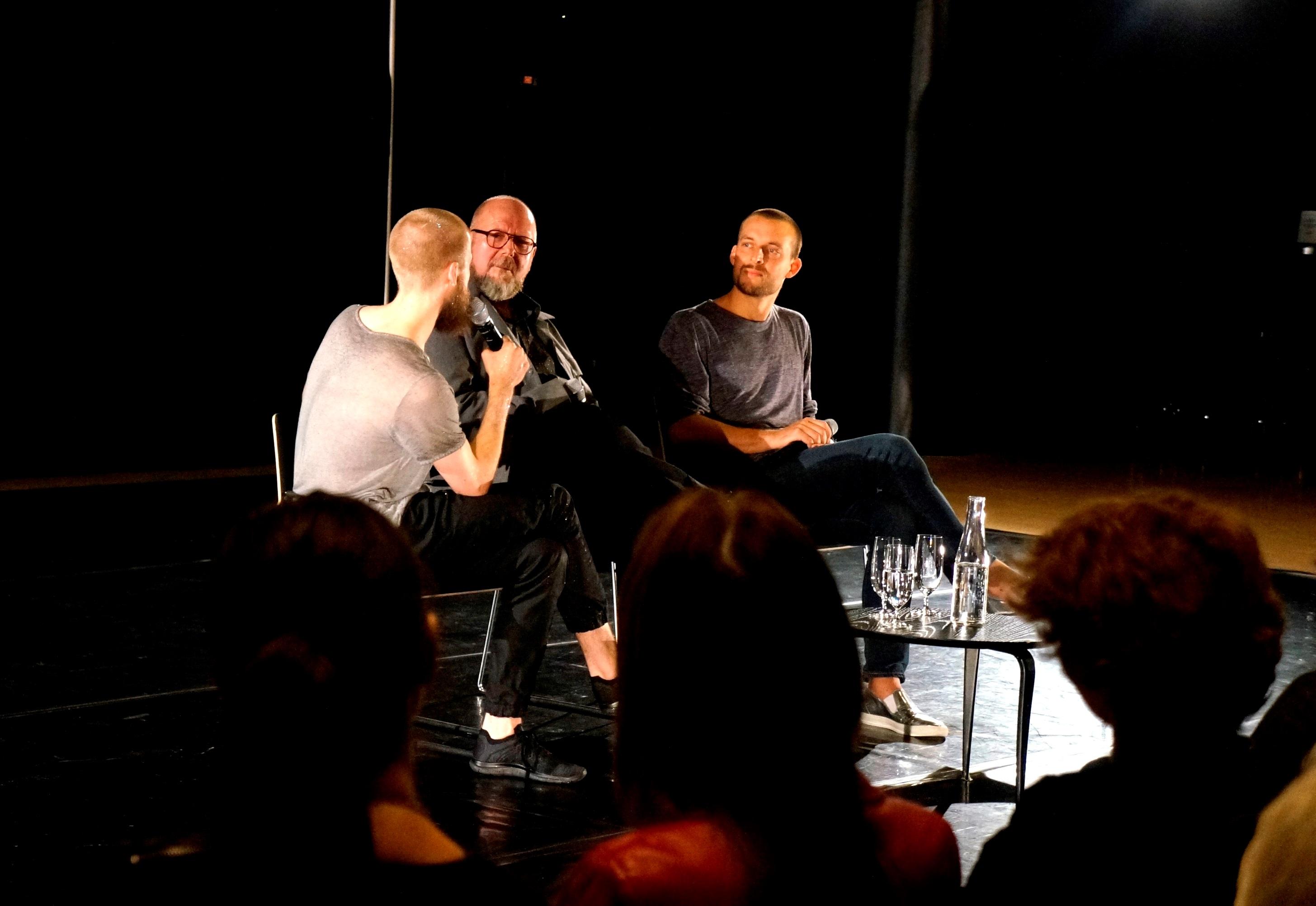Samuel Draper, Gabriel Smeets och Daniel Sjökvist från Cullbergbaletten i samtal på House of Sweden 2016