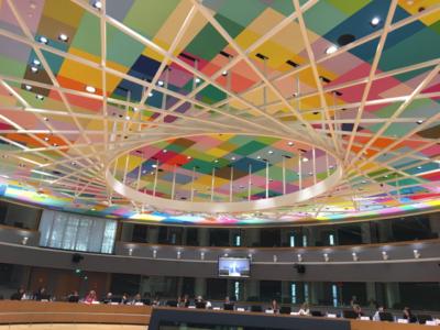 Mötesrummet på plan 5 för dagens ministerråd. Foto: Mikael Schultz