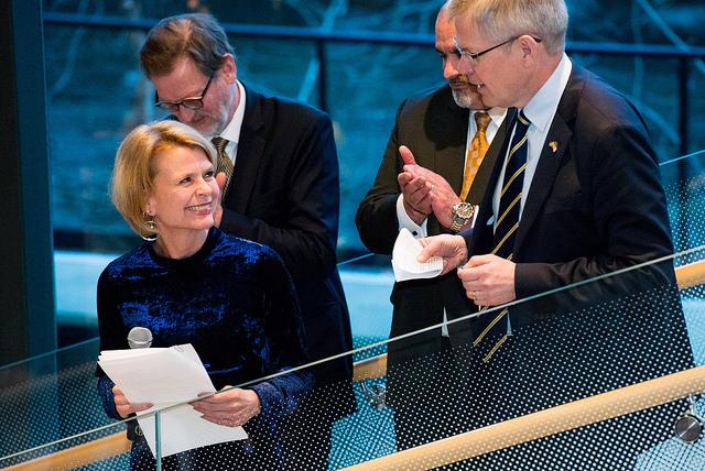 Åsa Regnér och Ambassadör Björn Lyrvall