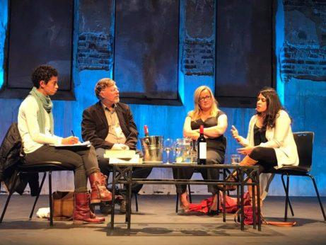 Malin Persson Giolito samtalr med Deon Meyers, Iman Verjee och Lauren Smnith på Open Book
