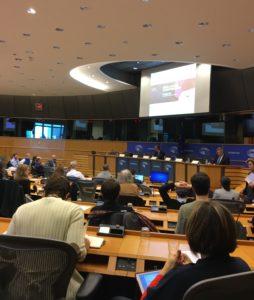 Mötesrummet på Europaparlamentet: en miljö som vi kan känna igen. Foto: Mikael Schultz