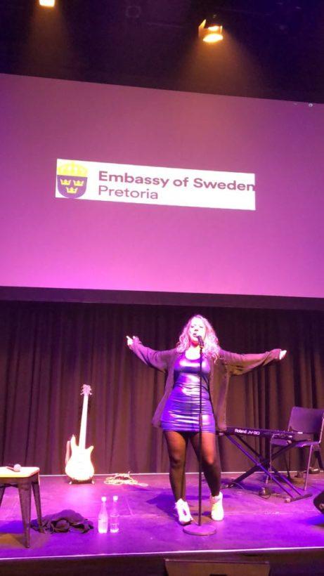 Olivia Bergdahl på Soweto Theatre