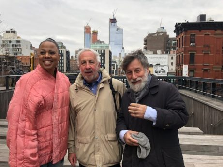 På HIghline med Alan Plattus, frpn Yale School of Architecture