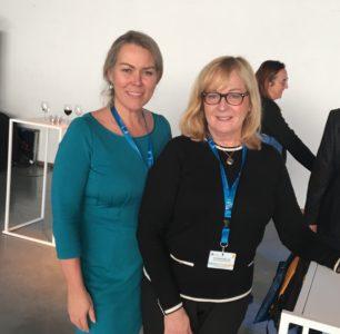 Också aktiva deltagare på mässan. Ann-Louice Dahlgren, samordnare för EYCH 2018 och Anita Bergenstråhle-Lind, EU och internationella frågor, båda från Riksantikvarieämbetet. Foto: Mikael Schultz
