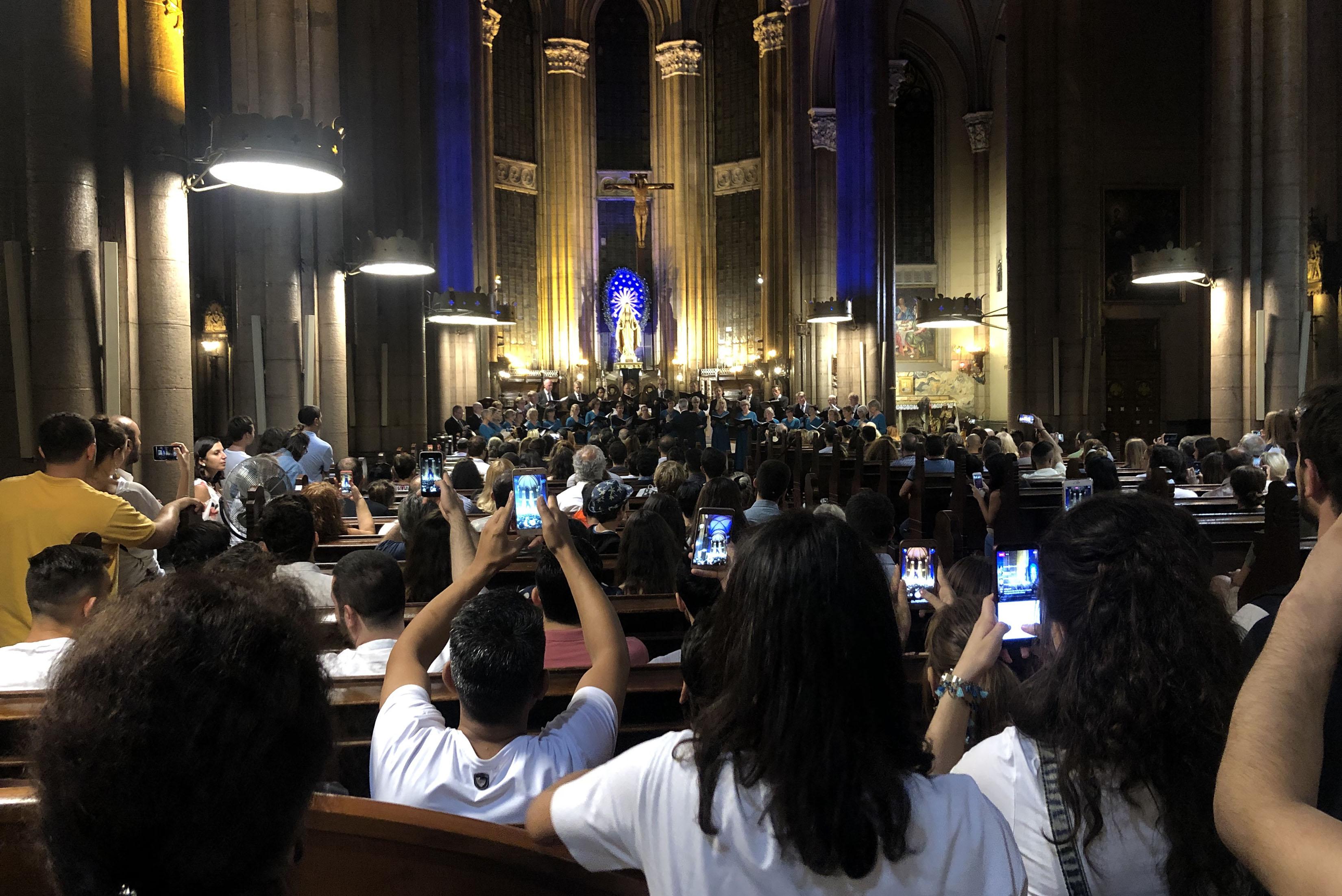 Hedvig Eleonoras kammarkörs konsert på St. Antoine kyrkan, Istanbul.