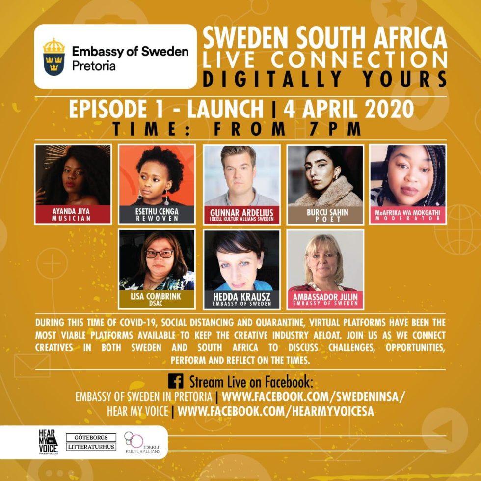 Ambassaden i Pretoria lanserar digital scen