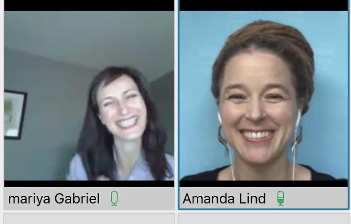 Virtuellt möte med Amanda Lind och Mariya Gabriel