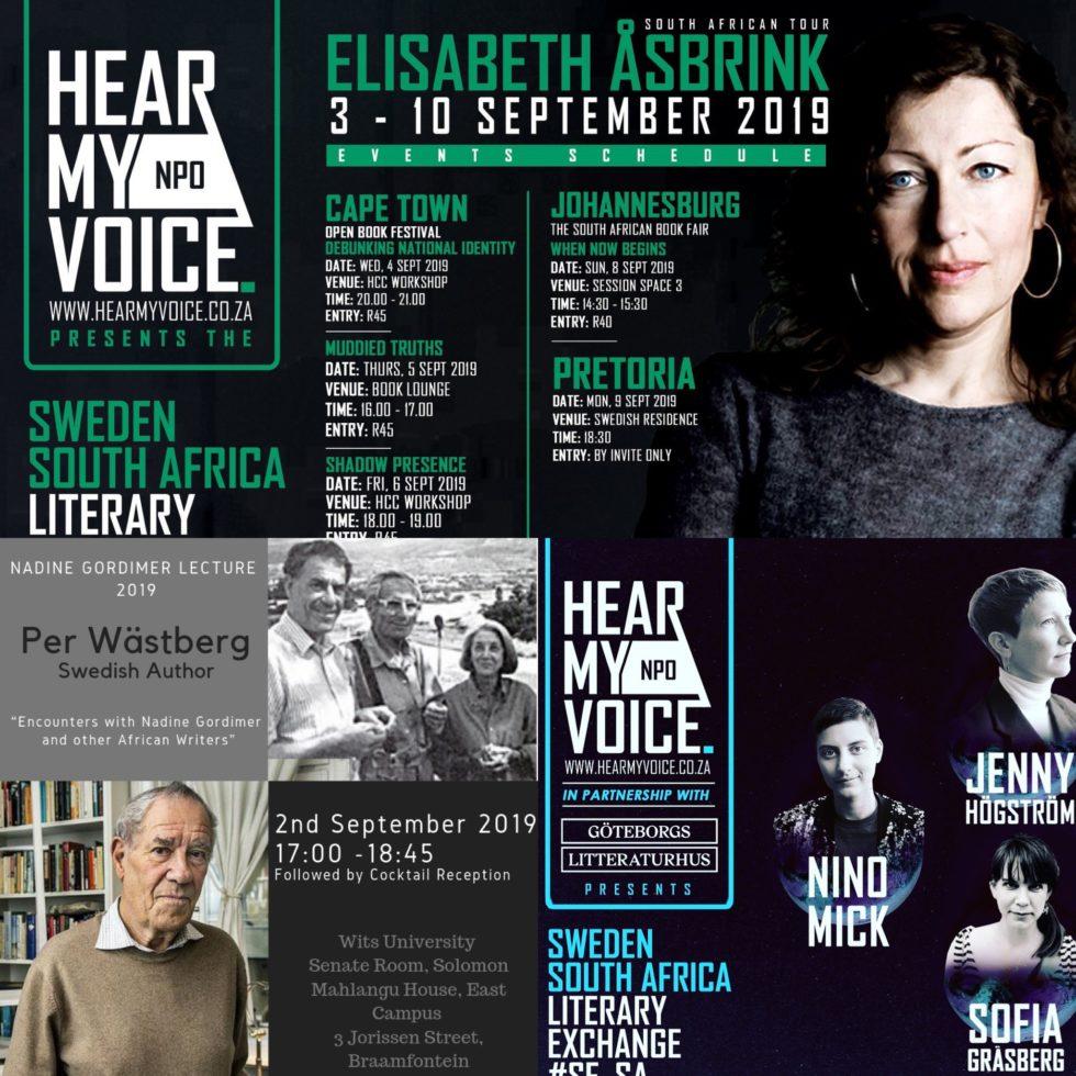 Exempel på samarbeten mellan svenska författare och Hear My Voice