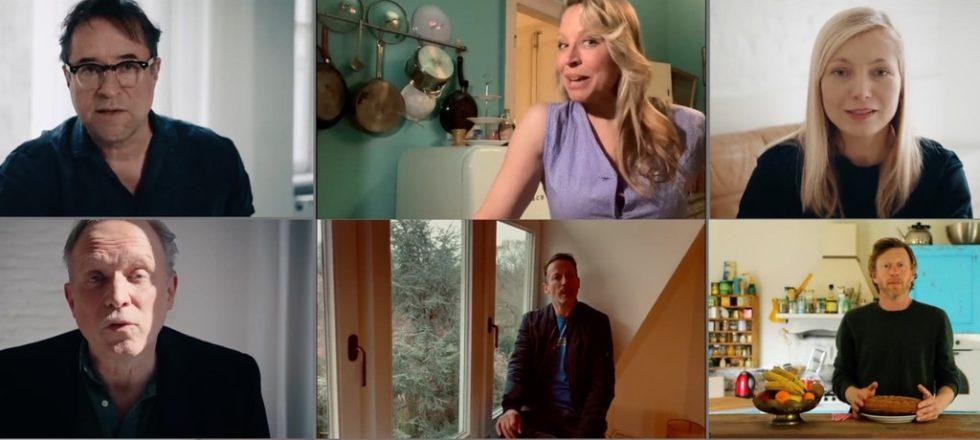 Bilder från videoran på de sex olika deltagarna.